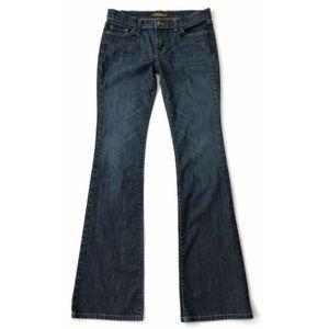 David Kahn Jeans Boot Cut Flap Pocket Blue Denim